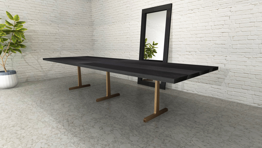 shou sugi ban charred table by RSTco.