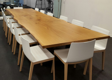 Live Edge White Oak Conference Table