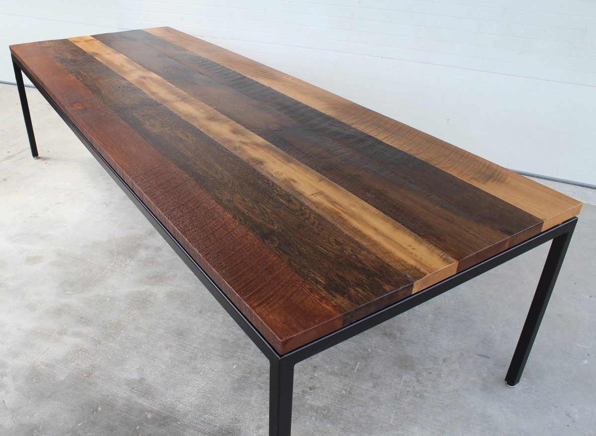 Sheppard Mullin Reclaimed Oak Table Resawn Timber Co