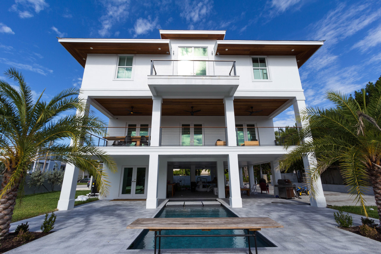 A Key West residence used reSAWN's NEWPORT