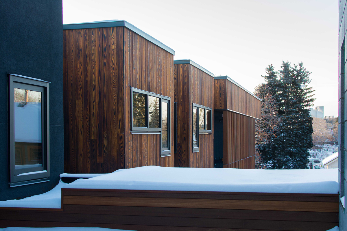 TORA shou sugi ban installed in a Canadian private residence