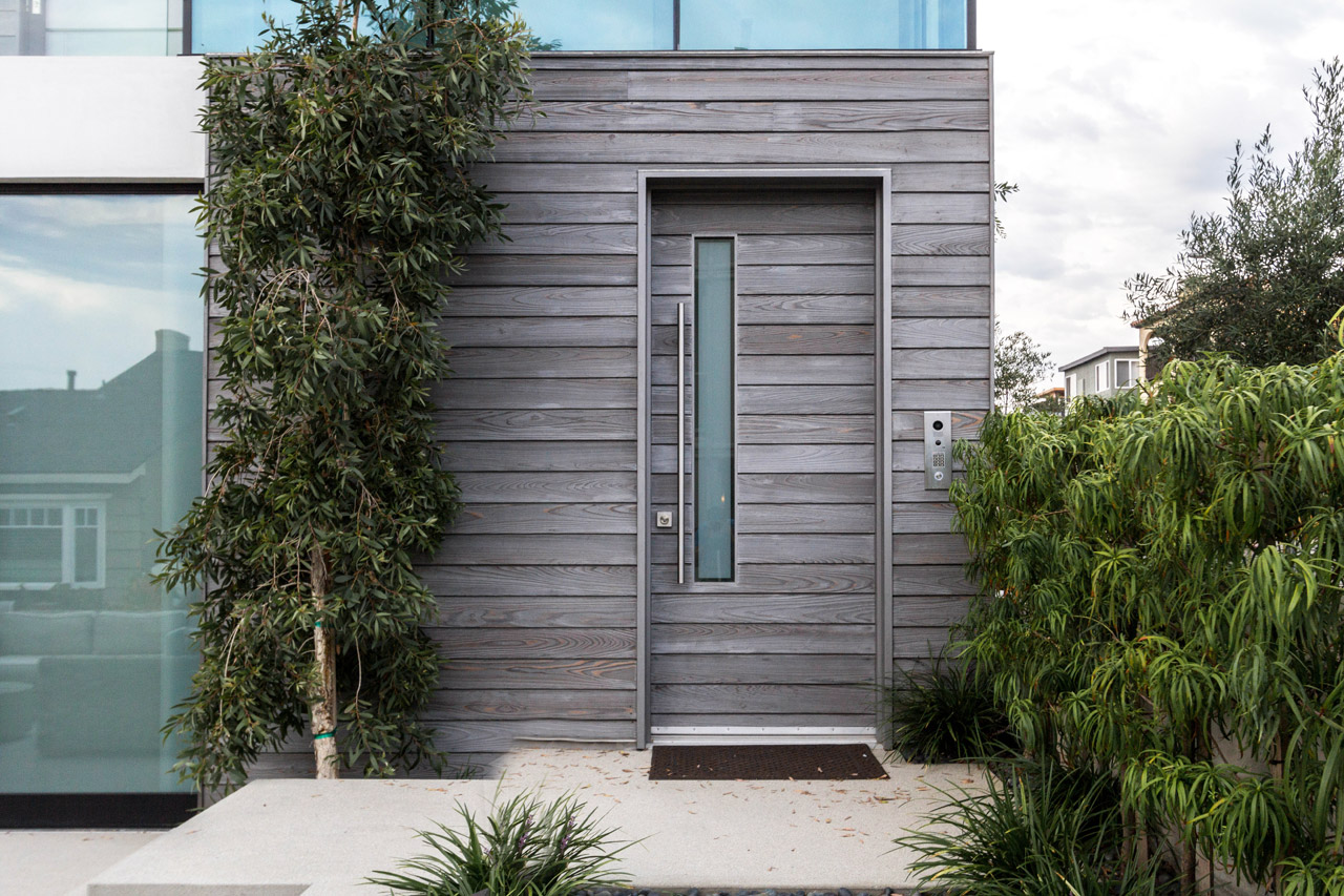 Manhattan Beach residence with IRUKA shou sugi ban exterior siding